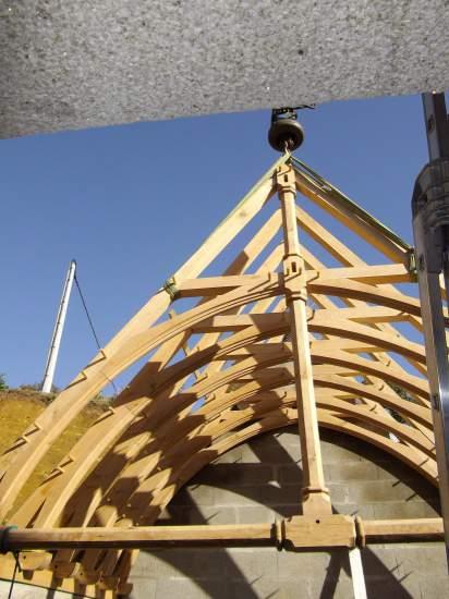 Garage en charpente ferme chevron structur bois for Ferme de charpente en bois