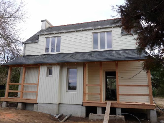 Bardage Bois Et Extension Sur Maison Traditionnelle: extension maison traditionnelle