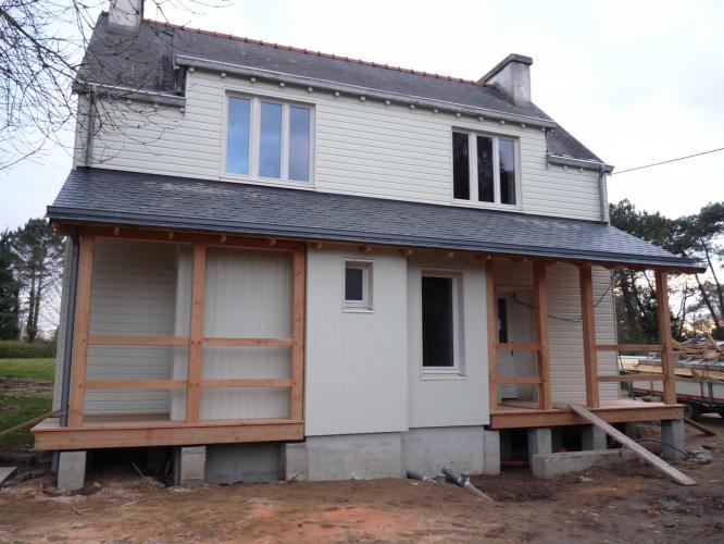 Bardage bois et extension sur maison traditionnelle for Extension bois sur maison traditionnelle