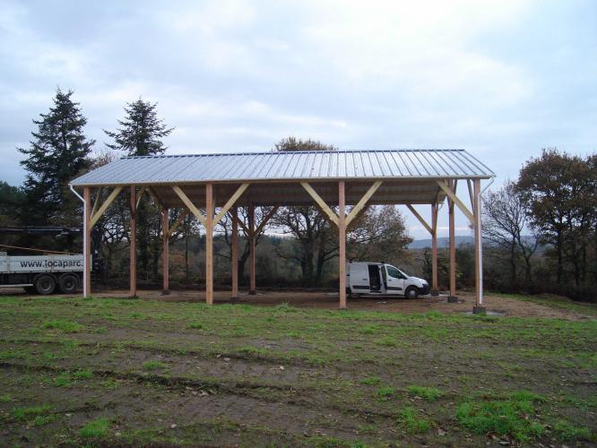 Charpente de hangar  Structuré Bois