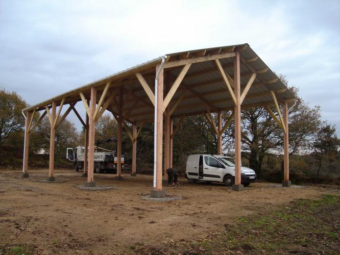 Charpente de hangar structur bois for Structure de bois