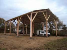 charpente bois hangar finistere